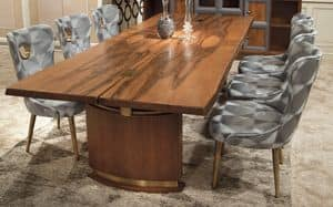 Princess Art. 81.138, Walnut table with antique brass details