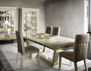 SIPARIO table, Rectangular wooden table for classic dining rooms