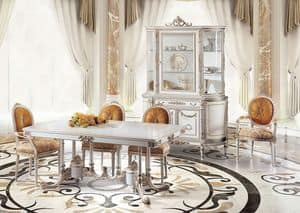 Sky M/111084, Luxurious table with classic lines, hand carved