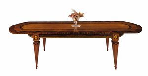 T522 Sinfonia, Inlaid table, with extensions, for dining room
