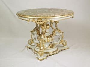 TABLE ART. TL 0009, Round little table for center hall, in style '700