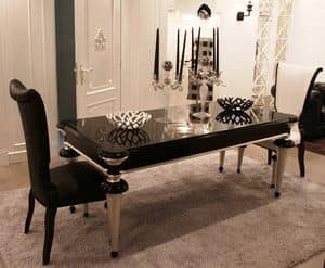 Ebony dining table for luxury living room idfdesign for Tavolo contemporaneo