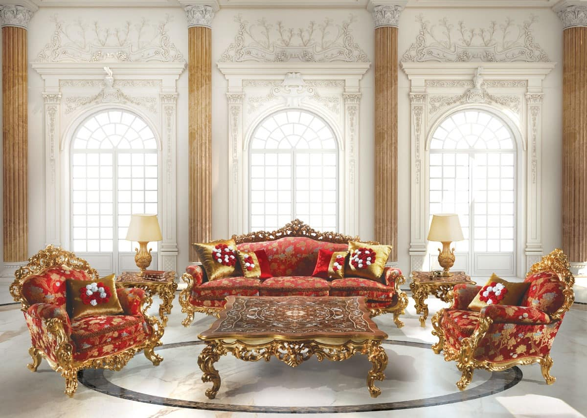 Baroque Armchair In Wood For Suite Hotel Idfdesign