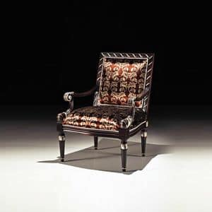 Picture of Art. 1726/A, luxury armchair with tall backrest