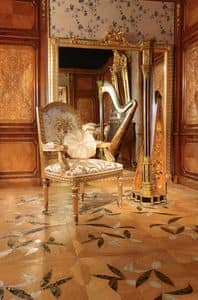 Art. 65, Carved gilded chair, for luxury dining rooms