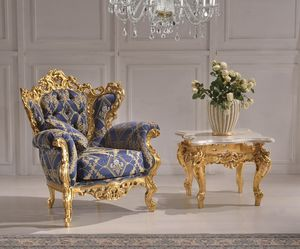 Art. MARIA.ARM, Luxury classic armchair with carvings