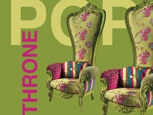 Picture of B/110/13 The Throne, wooden armchairs