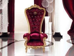 B/110/5 The Throne, Armchair with elegant finish, for Suite hotel