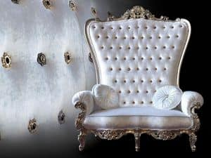 B/120/2 The Throne, Armchairs handmade, quilted backrest