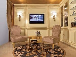 Picture of Boiserie System Armchair, luxury small thrones