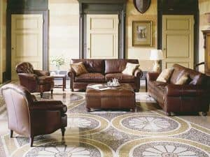 Caff�, Armchairs with luxurious decoration, for hotel suites