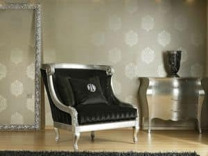 Picture of DAFNE armchair 8546L, luxury small thrones