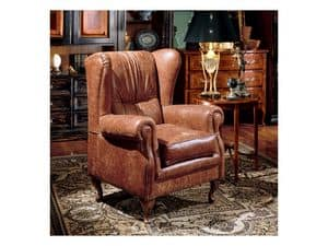 Display bergere anton, Leather armchair for sitting room