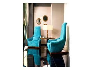 Picture of Dolce Vita Velvet Armchair, antique style armchair