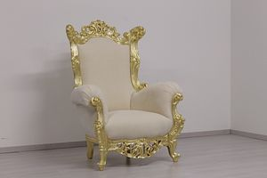 Finlandia throne classic, Throne in New Baroque style, in hand-carved wood