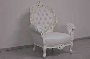 Firenze leather, New baroque style armchair suitable for luxury hotels