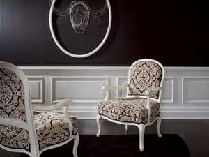 Picture of Poltroncina Doge Fidia, hand-worked armchair