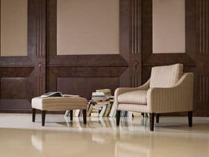 Picture of Prissy Armchair, decorated wood armchairs