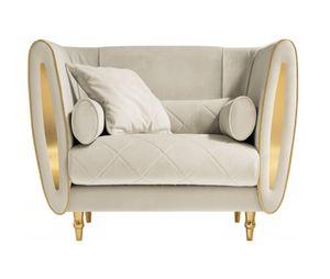 SIPARIO armchair, Classic armchair covered in velvet