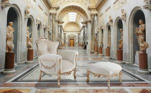 VINTAGE armchair, Armchair with handmade decorations, customizable