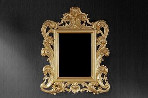 Ricciolo small mirror, Classic mirror suited for hotels and restaurants