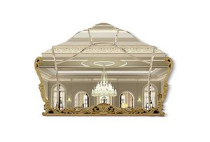 4608, Shaped mirror carved open-work-frame