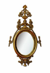 4617, Oval mirror with carving and open-work