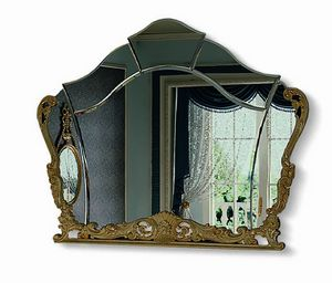 4622, Shaped mirror with carved frame