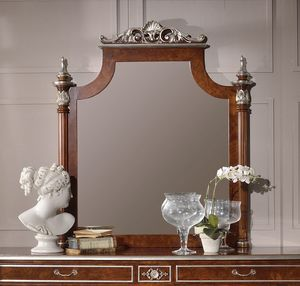 Art. 2090, Mirror with silver leaf carvings