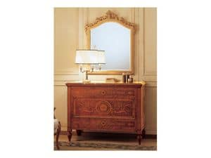 Art. 2165 '700 Italiano Maggiolini, Classical luxury mirror, with carved frame, gold leaf