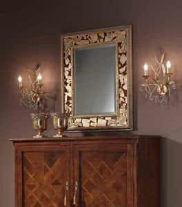 Art. H088 MIRROR, Classic mirror with gold leaf embellishments