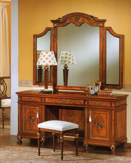 Mirror For Bedrooms, With Two Side Mirrors