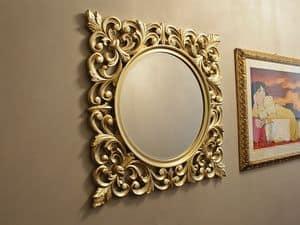 Ibis Gold mirror, Round mirror with gold frame