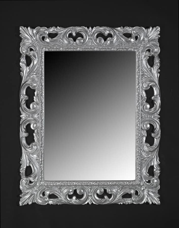 Classic style mirror with frame in lacquered wood idfdesign for Mirror frame styles