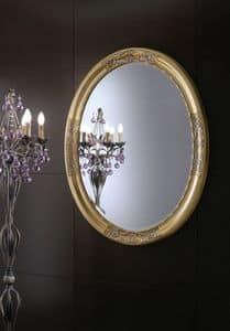 Orchidea mirror, Round Mirror suited for residential