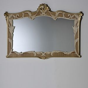 Palazzo PL216, Mirror with inlaid and carved frame