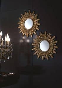 Specchiera Girasole, Round mirror for residential environments and hotels