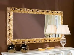 Tulipano mirror, Large mirror, with luxurious and refined lines, Baroque style