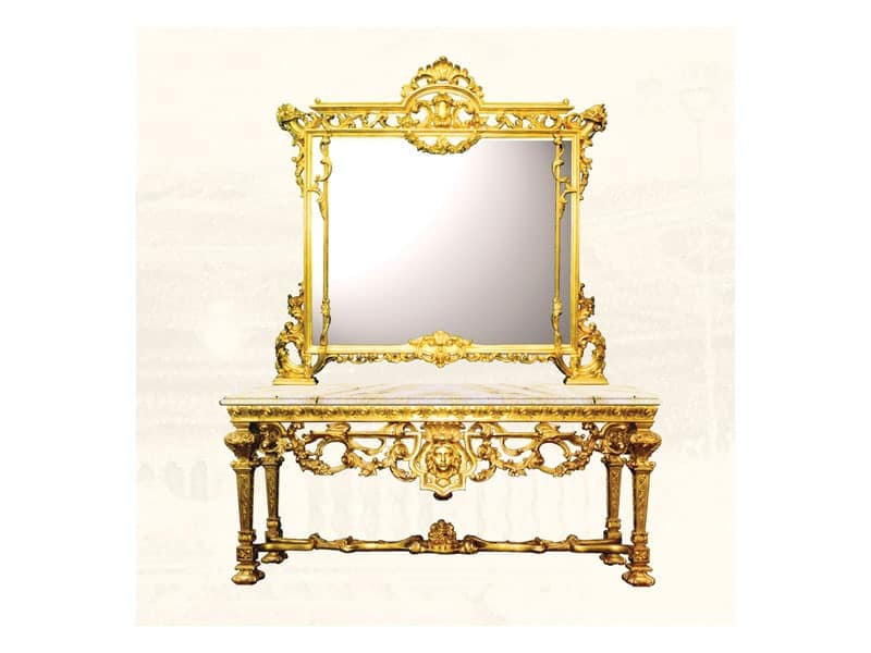 Large square mirror, Louis XIV style | IDFdesign