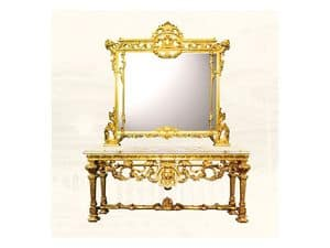 Wall Mirror art. 126/b, Large square mirror, Louis XIV style