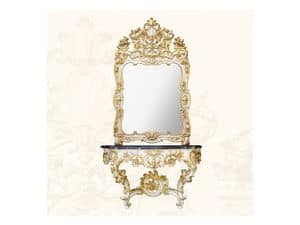 Wall Mirror art. 157, Mirror with decorated frame, Rococo style