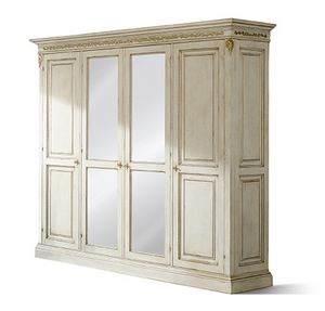 1476LQM, Carved four doors wardrobe
