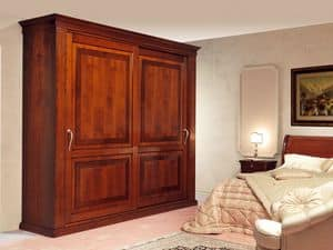Art. 2004/952/2 2 doors, Luxurious wardrobes, sliding doors with inlay, for classic bedrooms