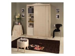 Picture of Art. 2300 Arianna, decorated wooden wardrobe