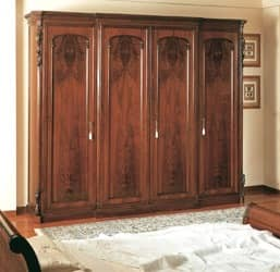 Art. 294 wardrobe closet '800 Siciliano, Handmade closet, for classical style bedroom