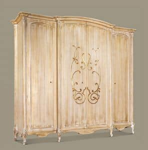 Art. 949, Wardrobe for luxurious hotel suites, 4 doors, hand carved