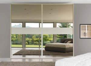 Art. 963, Wardrobe with mirrored sliding doors, contemporary style