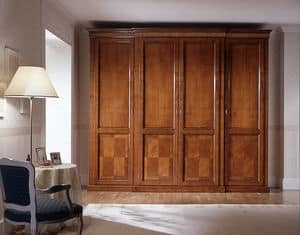 D 709, Cherry wardrobe with internal chest of drawers 2+2