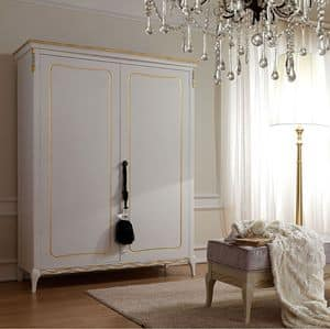 Live 5304 armadio, Wardrobe for bedroom, classic style, in wood with 2 or 4 doors