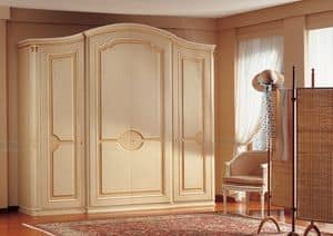 Raffaello, Luxury classic wardrobe, handmade decorations, for bedrooms furnishing